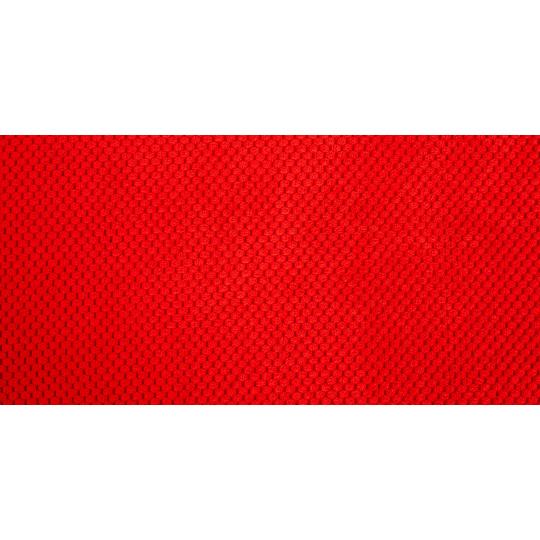 Matrace pelech červený velur a spodek ekokůže hnědá 4XL 120x80cm 10cm vysoká