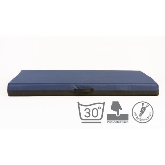 Ortopedická matrace, pelech s paměťovou pěnou, modrý Oxford materiál 4XL 120x80cm 10cm vysoká