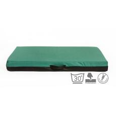 Ortopedická matrace, pelech z paměťové pěny zelený Oxford materiál 4XL 120x80cm 10cm vysoká