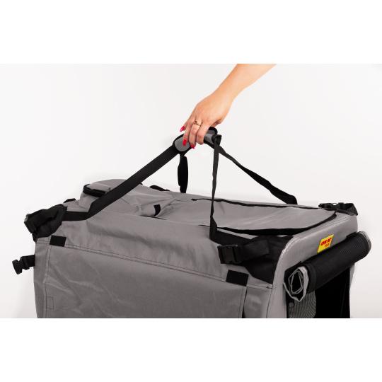 Transportní box skládací kenelka COOL PET PLUS S šedá 49,5 x 34,5 x 35 cm