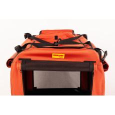 Přepravní box, cestovní kenelka COOL PET PLUS 2XL skořicová barva 91*64*64cm