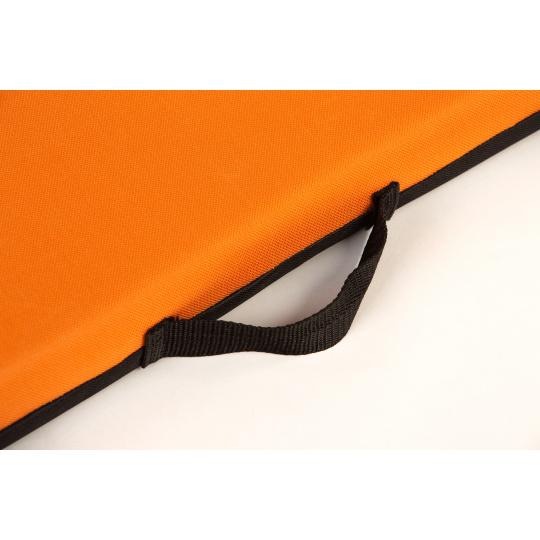 Ortopedická matrace pelech se snimatelným potahem oranžová textilie Oxford 4XL 120*80cm 10cm vysoký