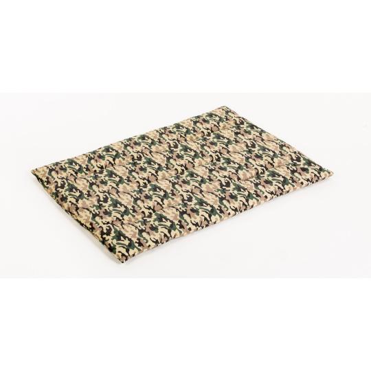 Bavlněná podložka vzor kamufláž zelená pelíšek plněná rounem 125*85cm