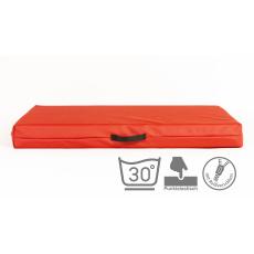 Ortopedická matrace s 10cm vysokou paměťovou pěnou 150*90cm červená eko kůže nepromokne stabilní