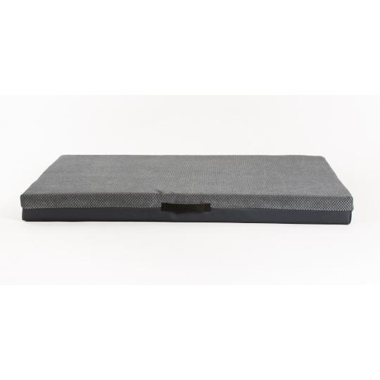Pohodlná matrace pro pejska ŠEDÝ velur a spodek ekokůže šedá 5 cm silná 4XL120x80cm **