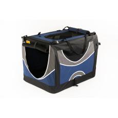 Transportní box, skládací kenelka COOL PET XL tmavě modrá 82 x 59 x 59cm