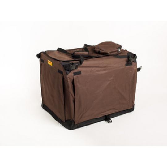 Kenelka, skládací přenosný domeček pro velké psy MAXIBOX hnědý 140*90*110cm