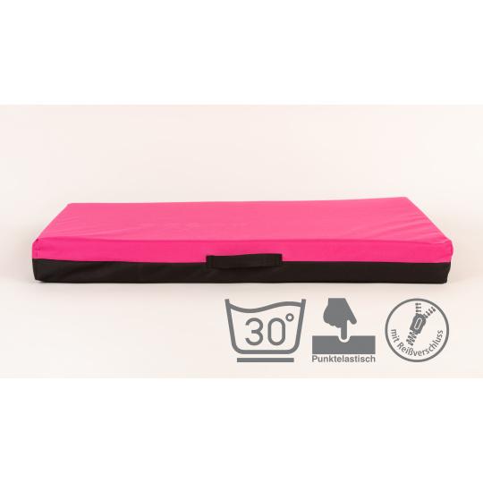 Ortopedická matrace, pelech z paměťové pěny růžový Oxford materiál 3XL 100x67cm 10cm vysoká