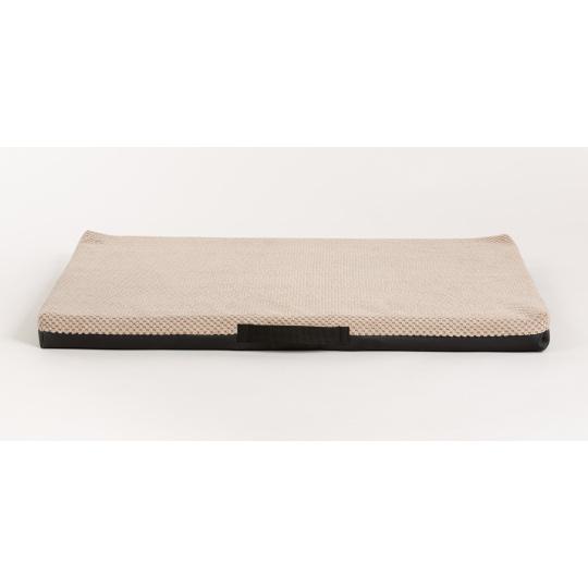 Ortopedická matrace velur béžový/spodek kůže černá 4XL 120x80cm 10cm vysoká