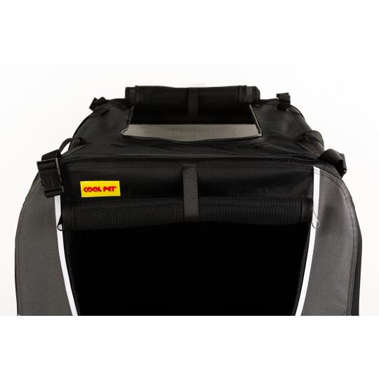 Kenelka skládací transportní černá COOL PET XL 82*59*59cm