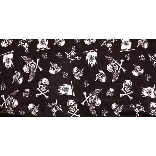 Bavlněná podložka vzor piráti pelíšek plněná rounem 125*85cm
