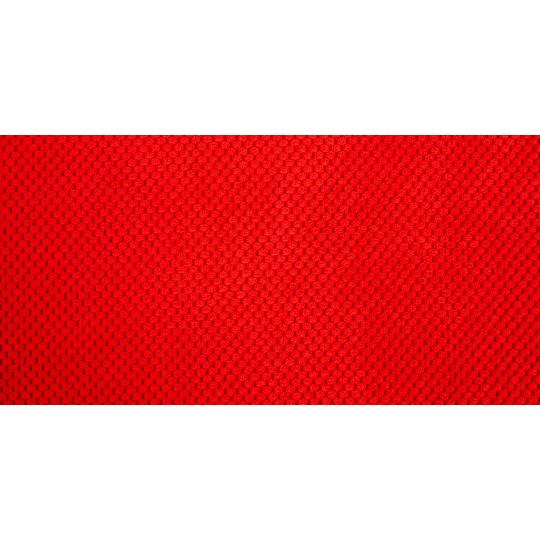 Ortopedická matrace pelech červený velur a spodek ekokůže hnědá 4XL 120x80cm 10cm vysoká